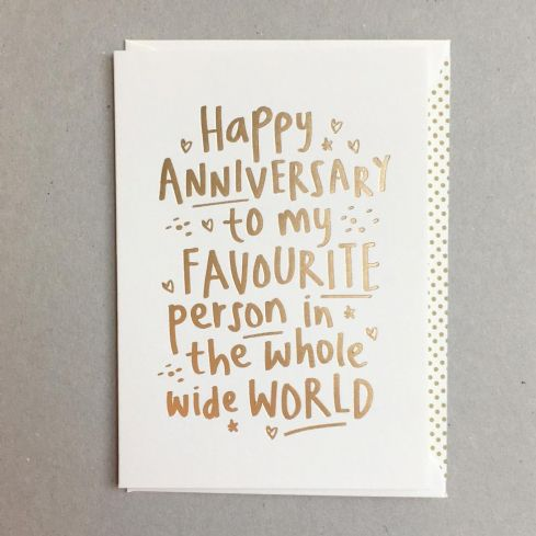Megan Claire Greetings Cards - Happy Anniversary Card